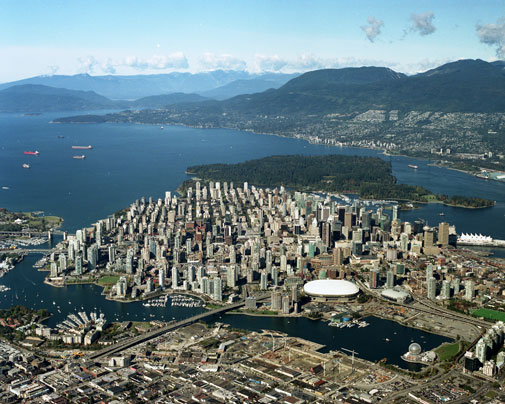 Downtown Vancouver aerial image
